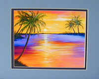 Sunset Print from Sunset Painting