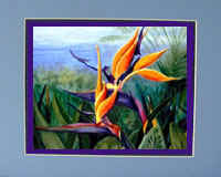 Tropical Flower Print from Flower Oil Painting